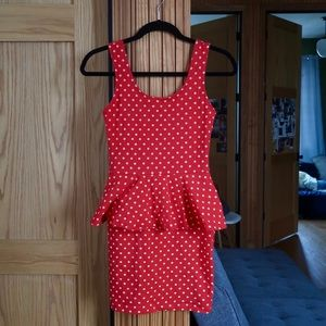 Flirty Polka Dot Bodycon Dress!